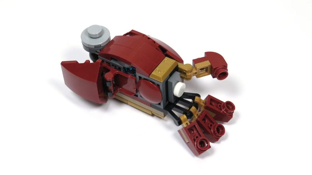LEGO® Marvel Super Heroes - 76105 - Der Hulkbuster: Ultron Edition - Bauabschnitt 9 - linke Hand | ©2018 Brickzeit