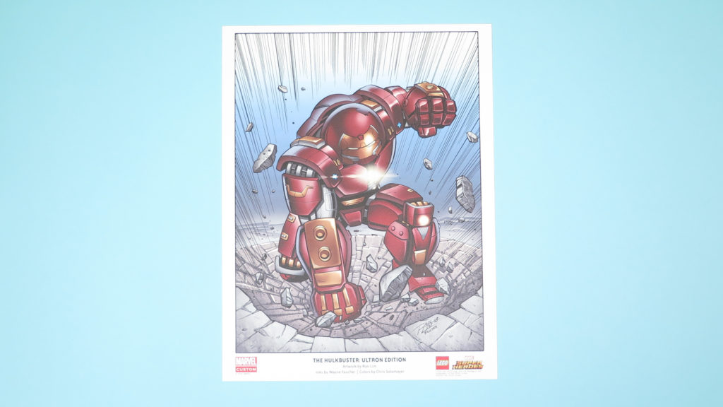 LEGO® Marvel Super Heroes THE HULKBUSTER: ULTRON EDITION Poster - farbig | ©2018 Brickzeit