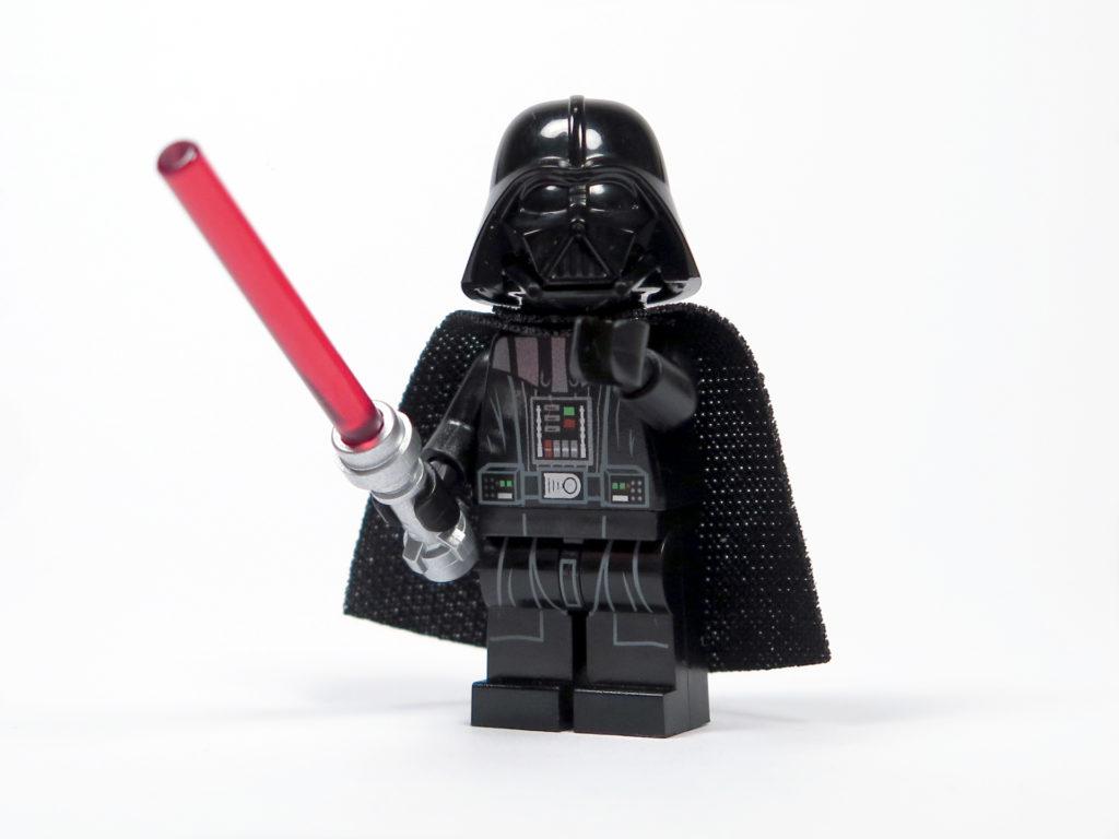 LEGO® Star Wars™ 75183 Darth Vader™ Transformation - Darth Vader mit Helm Vorderseite | ©2018 Brickzeit