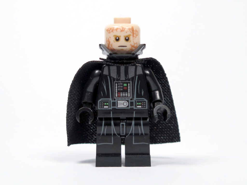 LEGO® Star Wars™ 75183 Darth Vader™ Transformation - Darth Vader ohne Helm Vorderseite | ©2018 Brickzeit