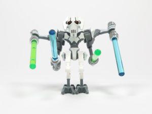 LEGO® Star Wars™ 75199 General Grevious Combat Speeder - Minifigur Grievous Vorderseite 2 | ©2018 Brickzeit