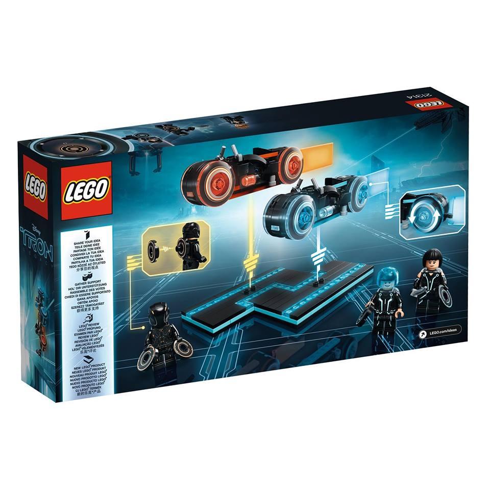 LEGO Ideas TRON: Legacy 21314 - Packung Rückseite | ©LEGO Gruppe