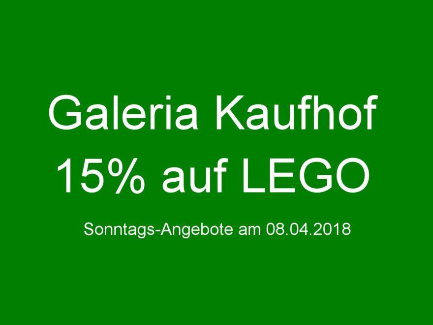 GALERIA Kaufhof Sonntags-Angebote am 08.04.2018 | ©2018 Brickzeit
