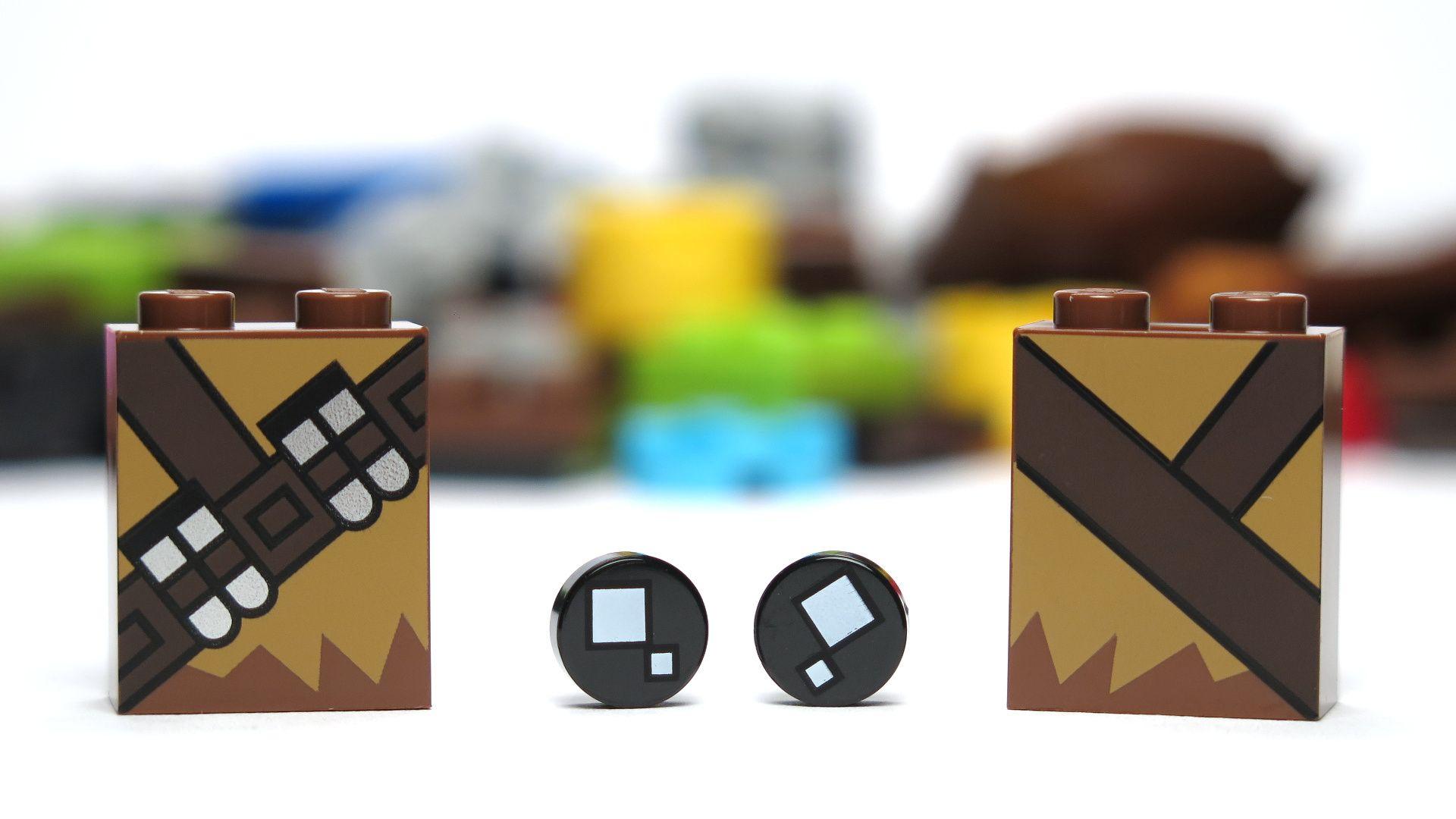 LEGO® Brickheadz™ Chewbacca™ (41609) - bedruckte Bauteile | ©2018 Brickzeit