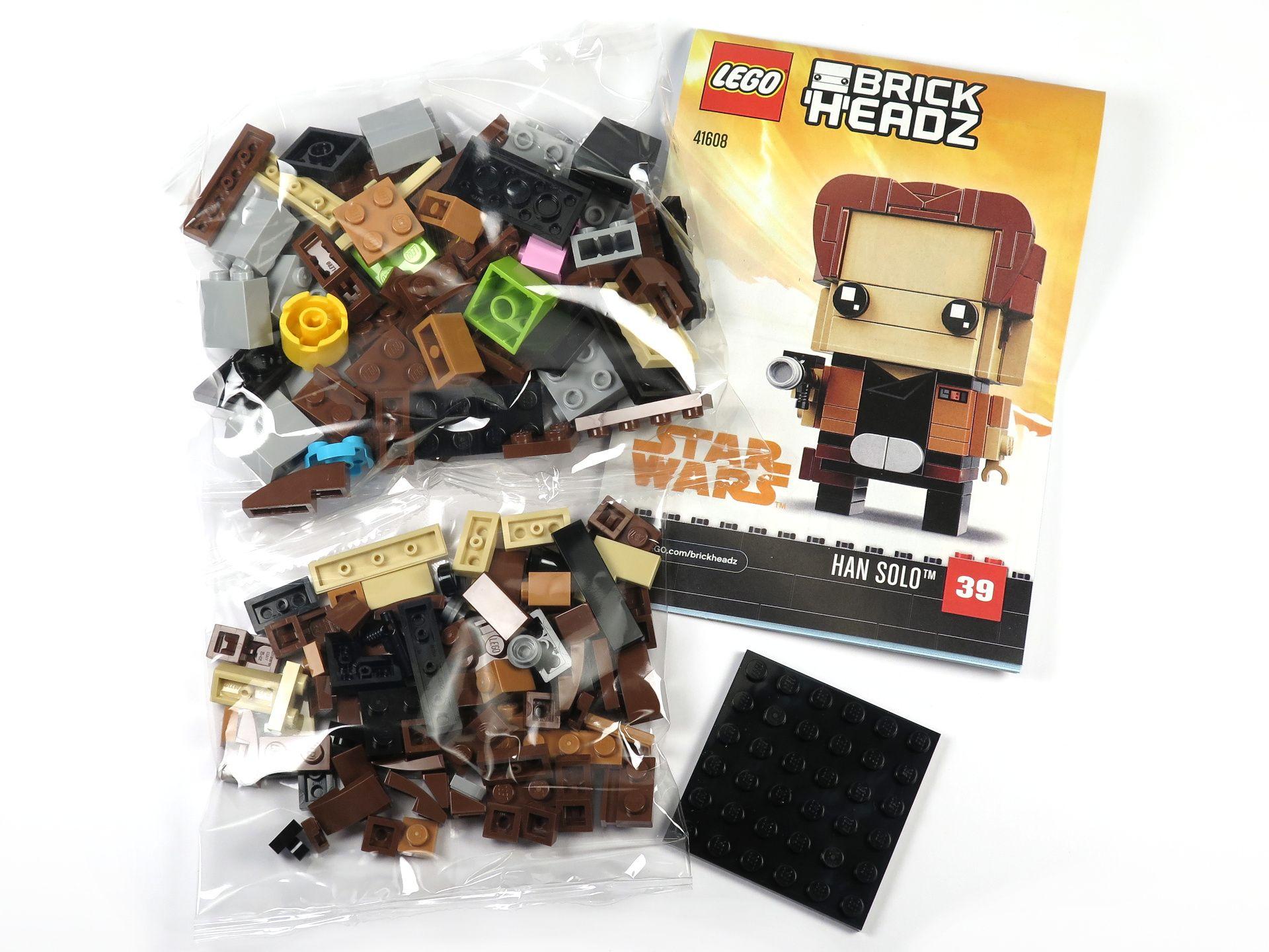 LEGO® Brickheadz™ Han Solo™ (41608) - Inhalt | ©2018 Brickzeit
