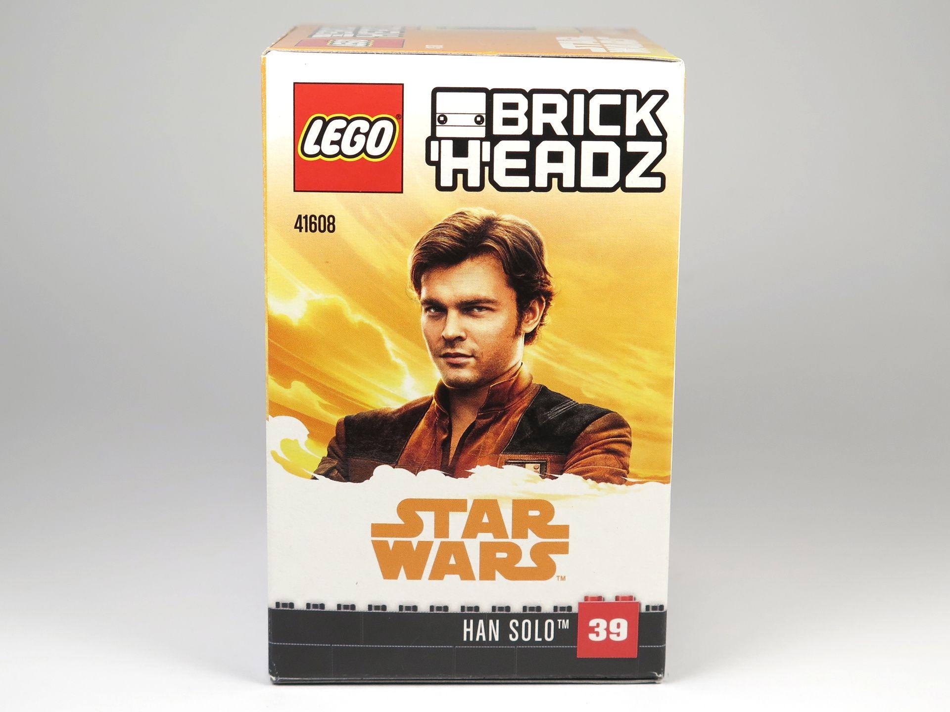 LEGO® Brickheadz™ Han Solo™ (41608) - Packung mit Han Solo Darsteller | ©2018 Brickzeit