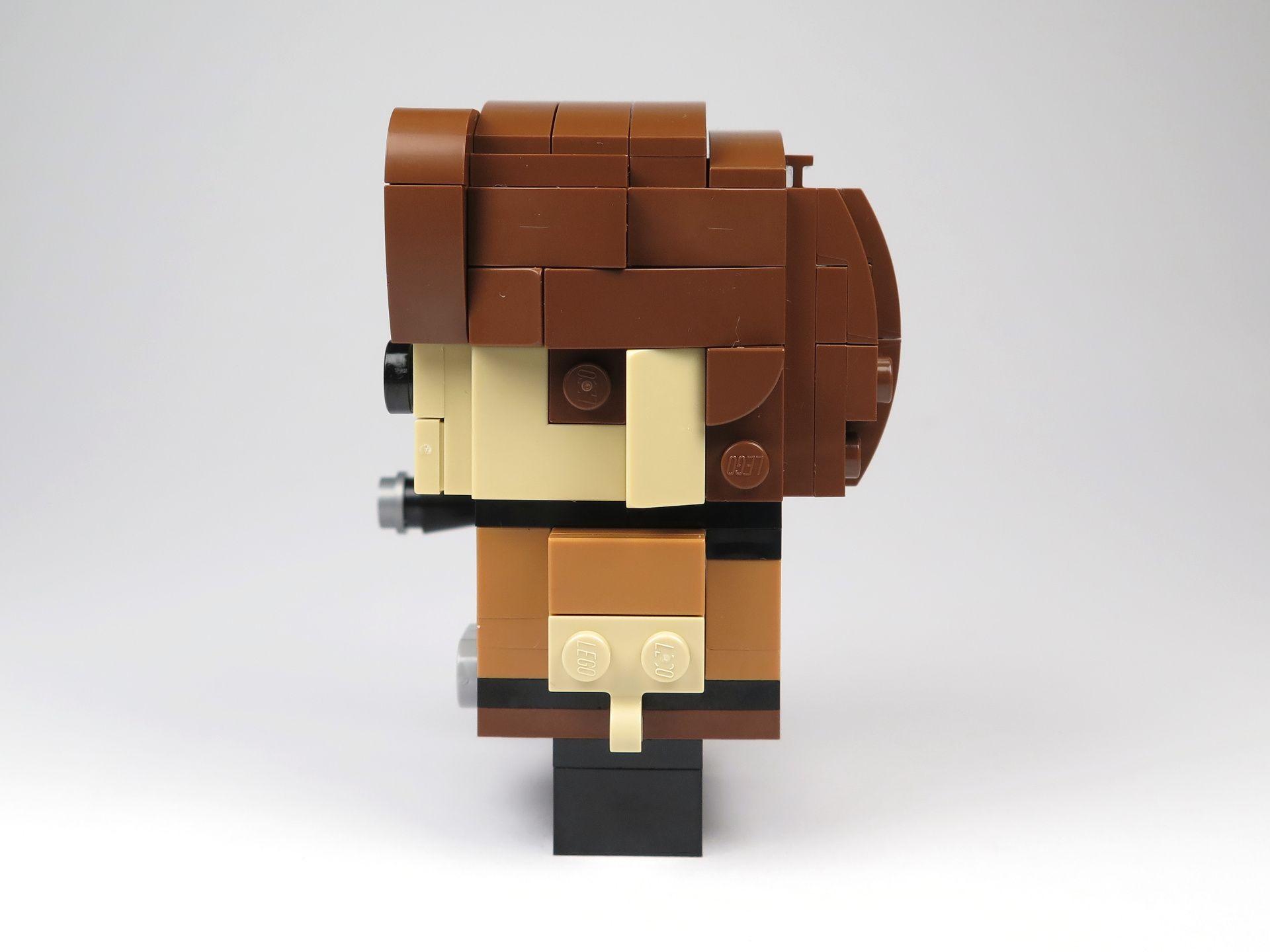 LEGO® Brickheadz™ Han Solo™ (41608) - linke Seite | ©2018 Brickzeit
