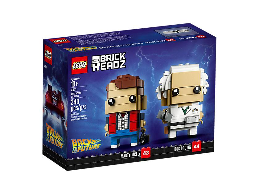 LEGO® Brickheadz Marty Mcfly und Doc Brown (41611) - Packung Vorderseite | ©LEGO Gruppe