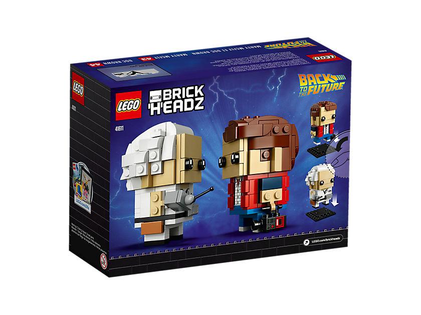 LEGO® Brickheadz Marty Mcfly und Doc Brown (41611) - Packung Rückseite | ©LEGO Gruppe