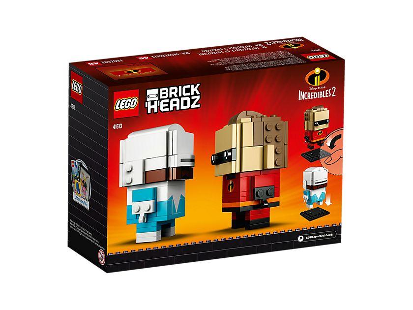 LEGO® Brickheadz™ Mr. Incredible und Frozone (41613) - Packung Rückseite | ©LEGO Gruppe