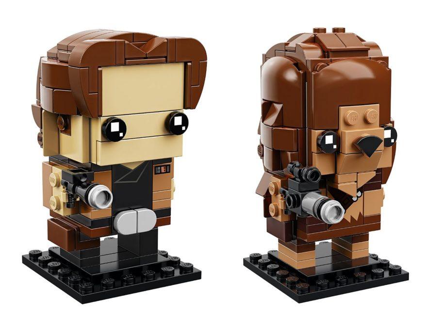LEGO® Brickheadz Star Wars Han Solo (41608) und Chewbacca (41609) - Titelbild | ©2018 Brickzeit