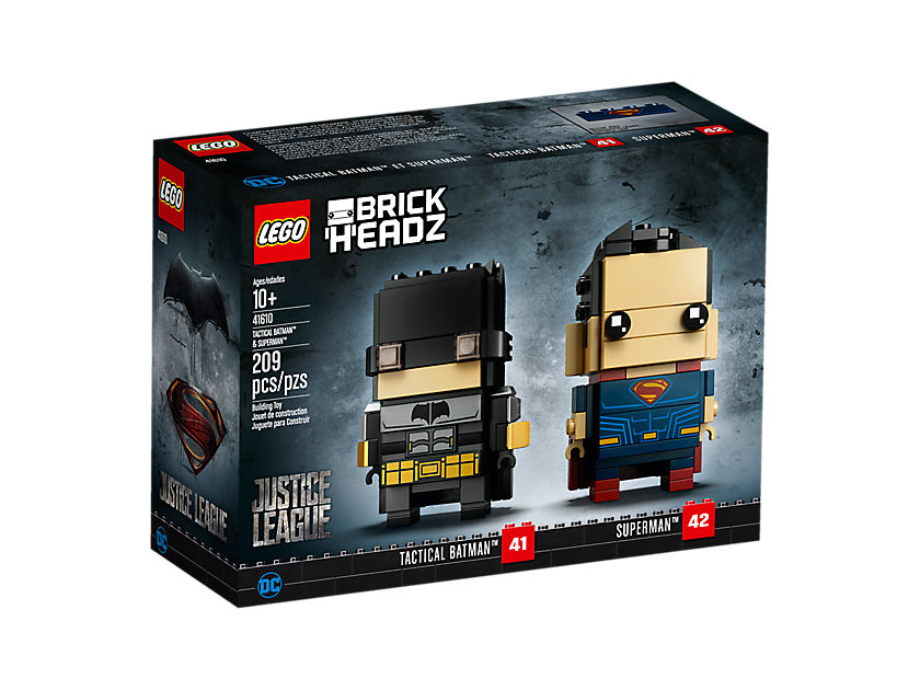 LEGO® Brickheadz™ Tactical Batman™ & Superman™ (41610) - Packung1 | ©LEGO Gruppe
