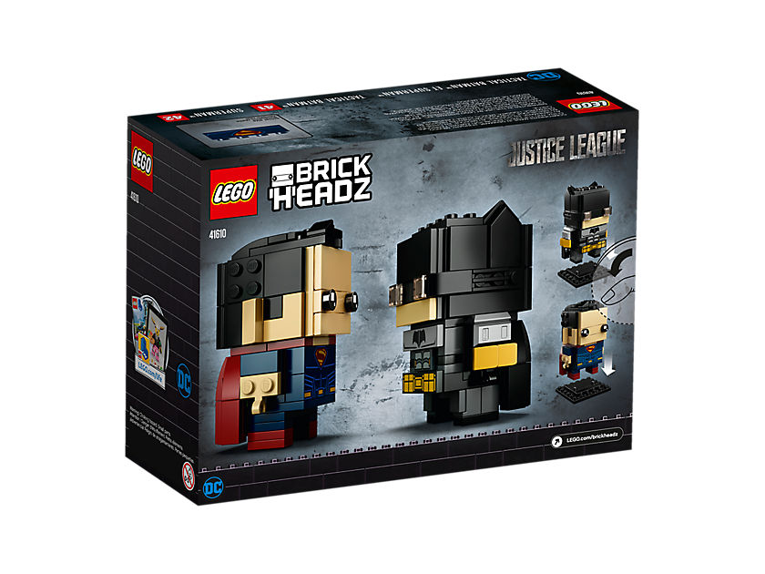 LEGO® Brickheadz™ Tactical Batman™ & Superman™ (41610) - Packung2 | ©LEGO Gruppe