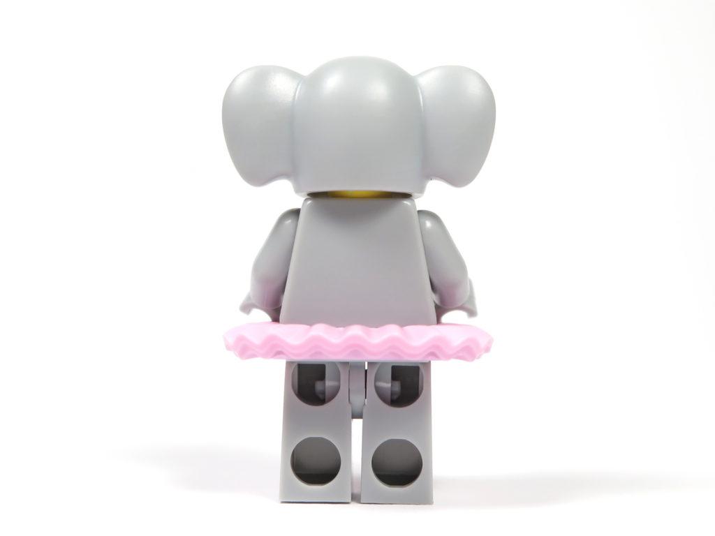 LEGO® Minifiguren Serie 18 (71021) - Elefantenmädchen Rückseite | ©2018 Brickzeit