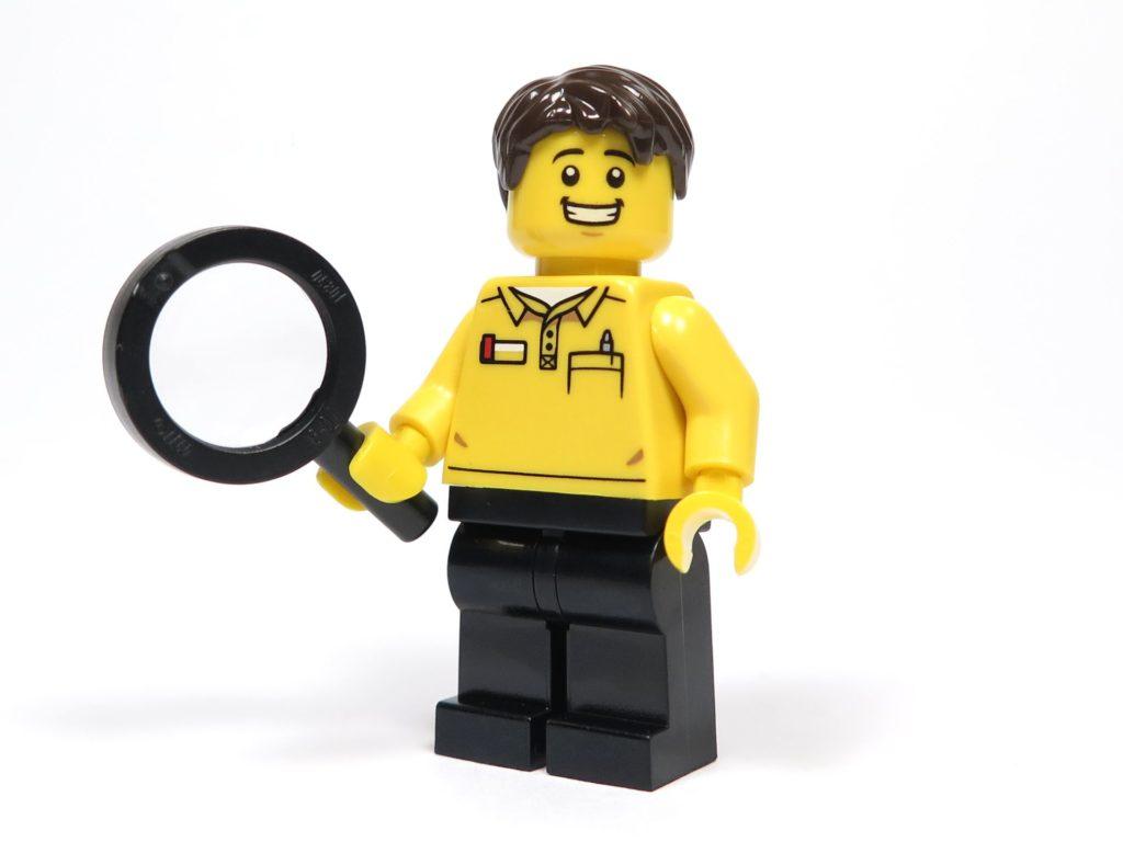 ®LEGO Minifigurenfabrik (5005358) - Fabrikarbeiter Minifigur Vorderseite | ©2018 Brickzeit