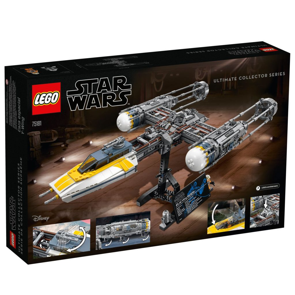 LEGO® Star Wars™ UCS Y-Wing Starfighter (75181) - Packung Rückseite | ©2018 LEGO Gruppe