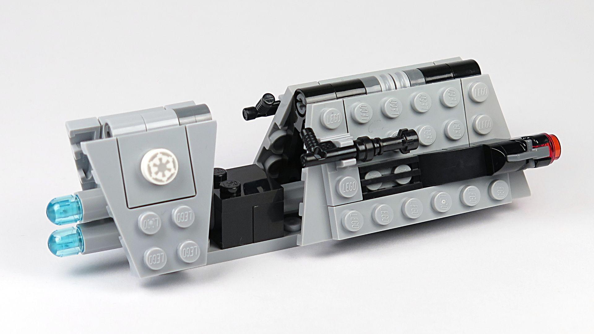 LEGO® Star Wars™ Imperial Patrol Battle Pack (75207) - Speeder hinten, rechts | ©2018 Brickzeit