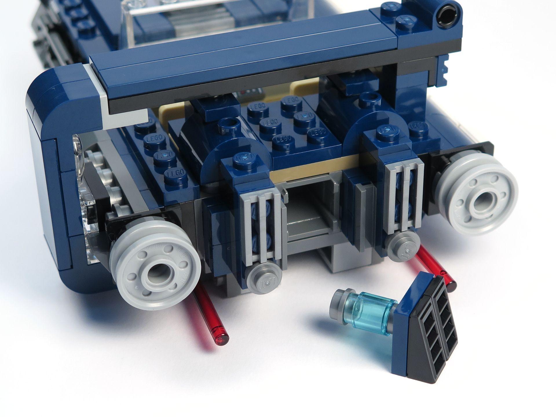LEGO® Star Wars™ Han Solo's Landspeeder™ (75209) - Stauraum, hinten | ©2018 Brickzeit