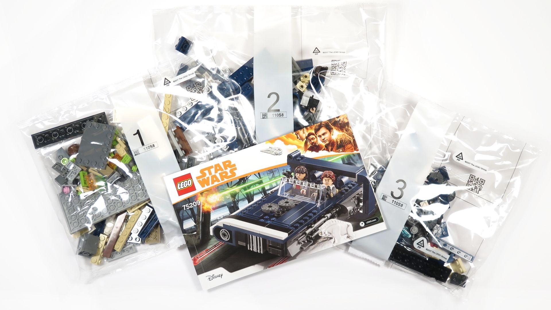 LEGO® Star Wars™ Han Solo's Landspeeder™ (75209) - Inhalt | ©2018 Brickzeit