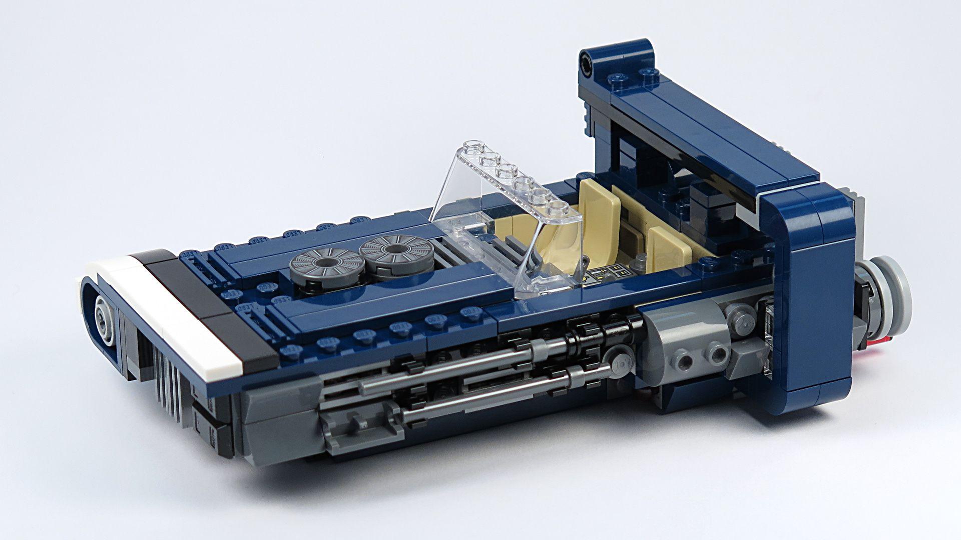 LEGO® Star Wars™ Han Solo's Landspeeder™ (75209) - Landspeeder, linke Seite | ©2018 Brickzeit