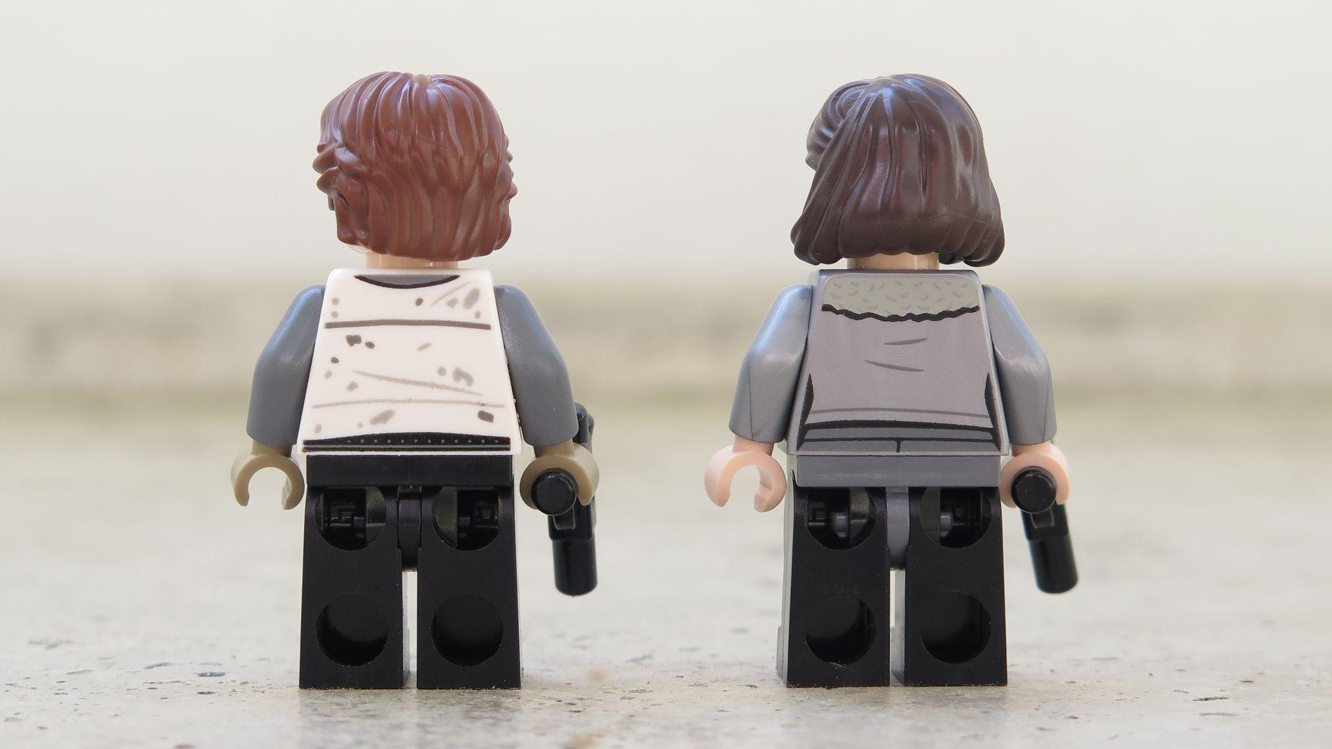 LEGO® Star Wars™ Han Solo's Landspeeder™ (75209) - Han Solo & Qi'ra, Rückseite | ©2018 Brickzeit