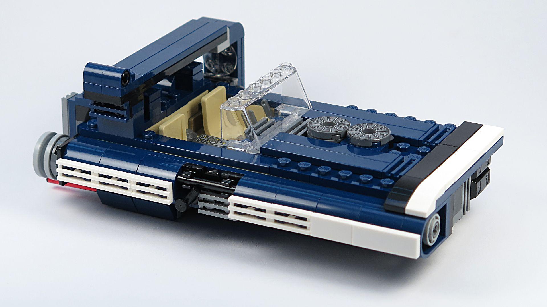 LEGO® Star Wars™ Han Solo's Landspeeder™ (75209) - Speeder, rechte Seite | ©2018 Brickzeit