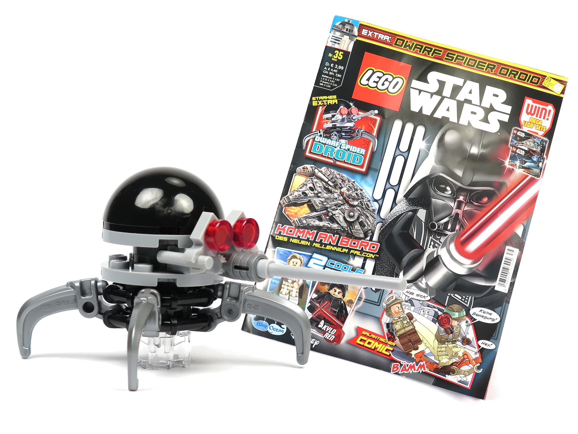 review lego star wars magazin nr 35 mit dwarf spider droid brickzeit. Black Bedroom Furniture Sets. Home Design Ideas
