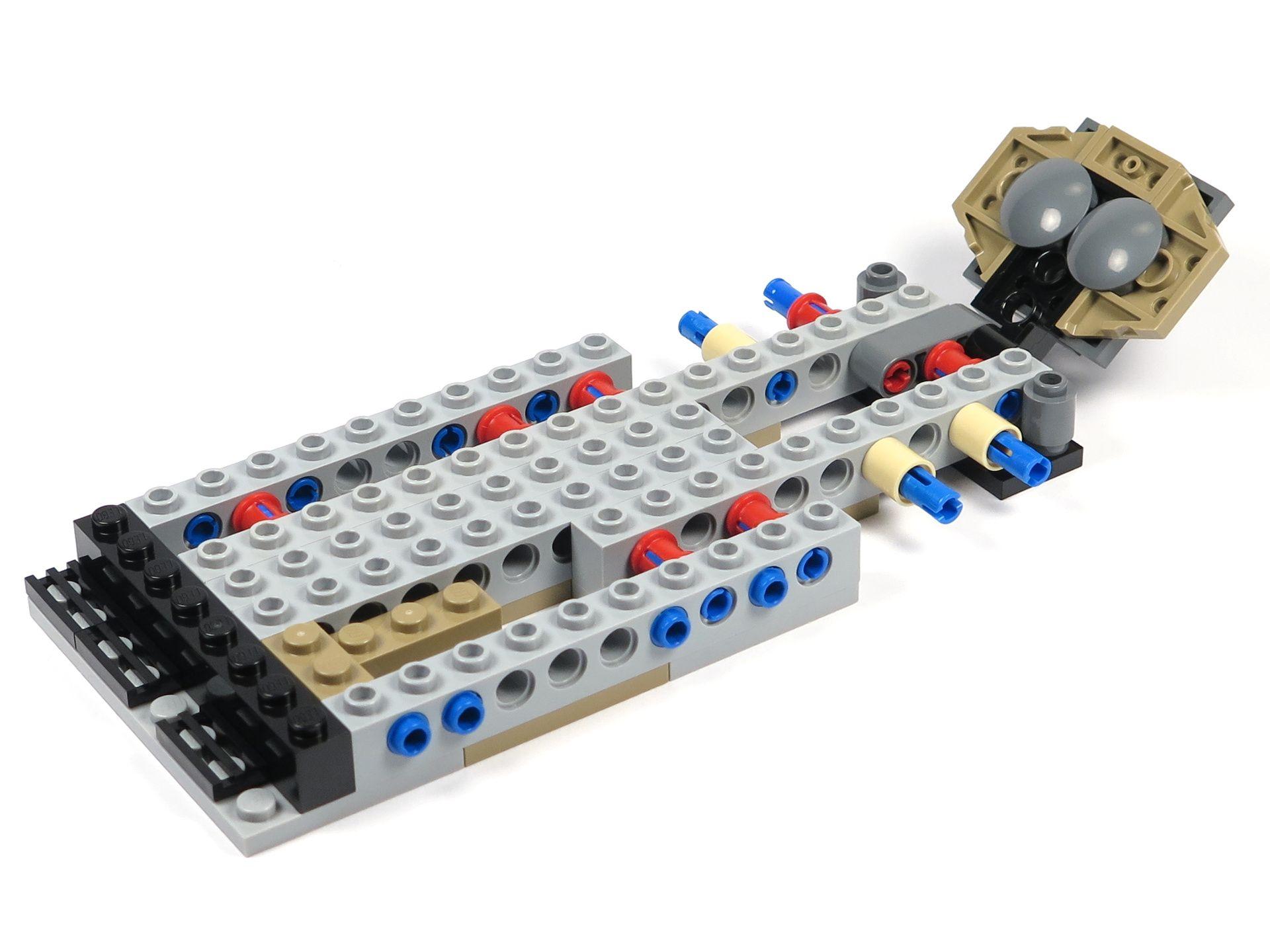 LEGO® Star Wars™ Moloch's Landspeeder™ (75210) - Bauabschnitt 1 - links | ©2018 Brickzeit