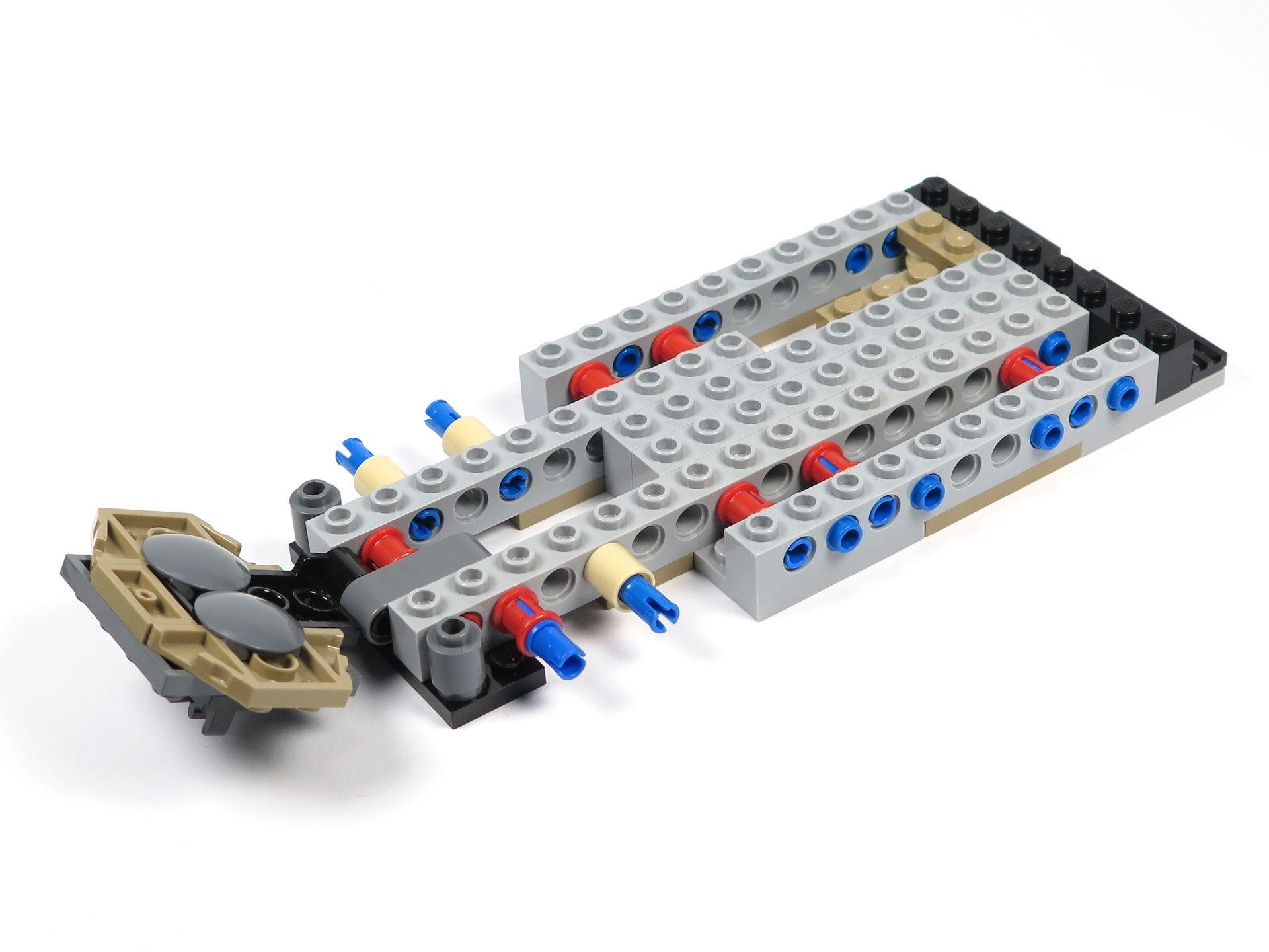 LEGO® Star Wars™ Moloch's Landspeeder™ (75210) - Bauabschnitt 1 - rechts | ©2018 Brickzeit