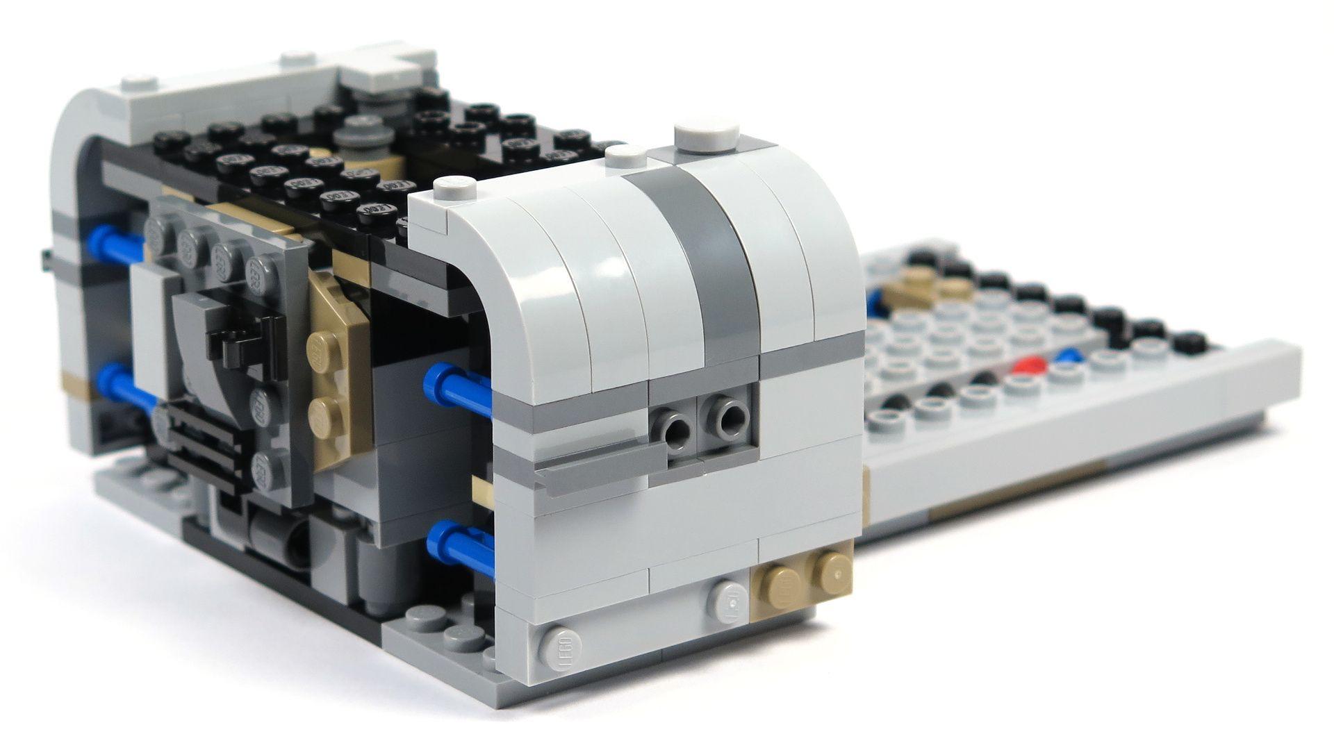 LEGO® Star Wars™ Moloch's Landspeeder™ (75210) - Bauabschnitt 2 - hinten rechts mit Anbau | ©2018 Brickzeit