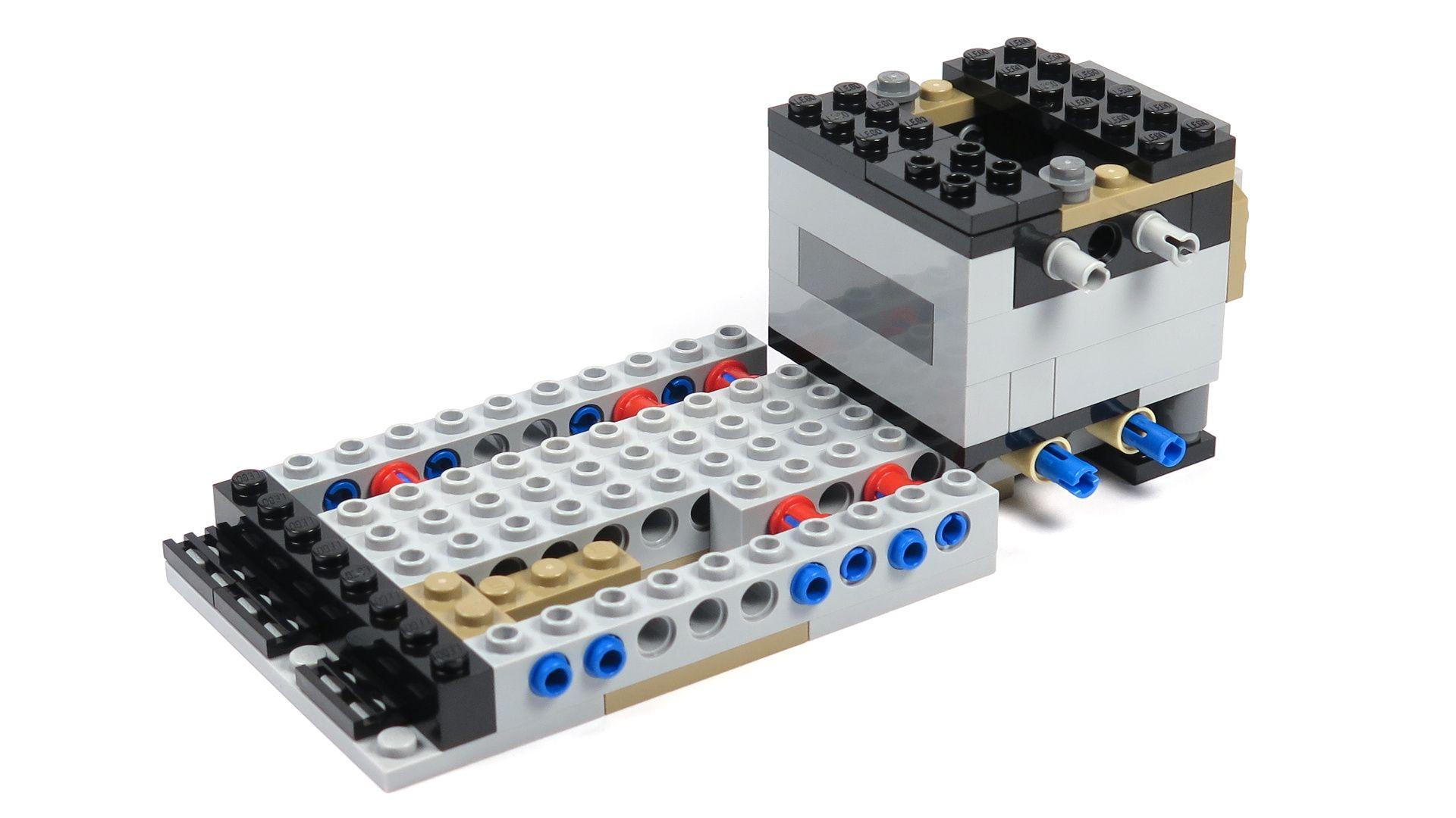 LEGO® Star Wars™ Moloch's Landspeeder™ (75210) - Bauabschnitt 2 - links ohne Anbau | ©2018 Brickzeit