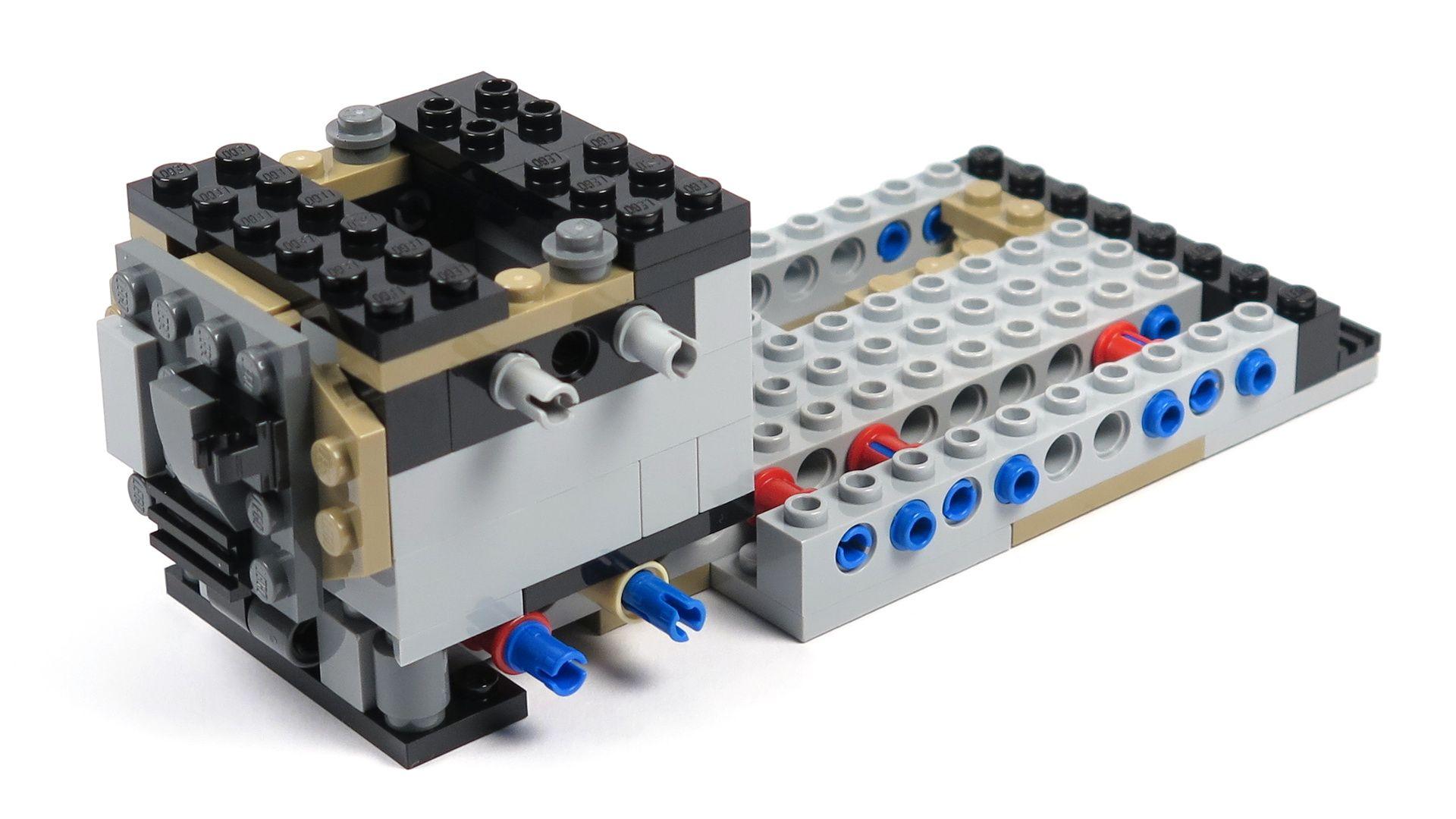 LEGO® Star Wars™ Moloch's Landspeeder™ (75210) - Bauabschnitt 2 - rechts ohne Anbau | ©2018 Brickzeit