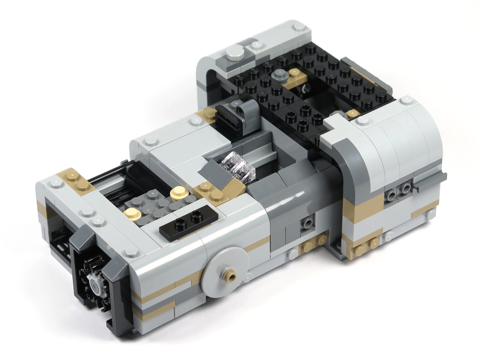 LEGO® Star Wars™ Moloch's Landspeeder™ (75210) - Bauabschnitt 3 - linke Seite | ©2018 Brickzeit