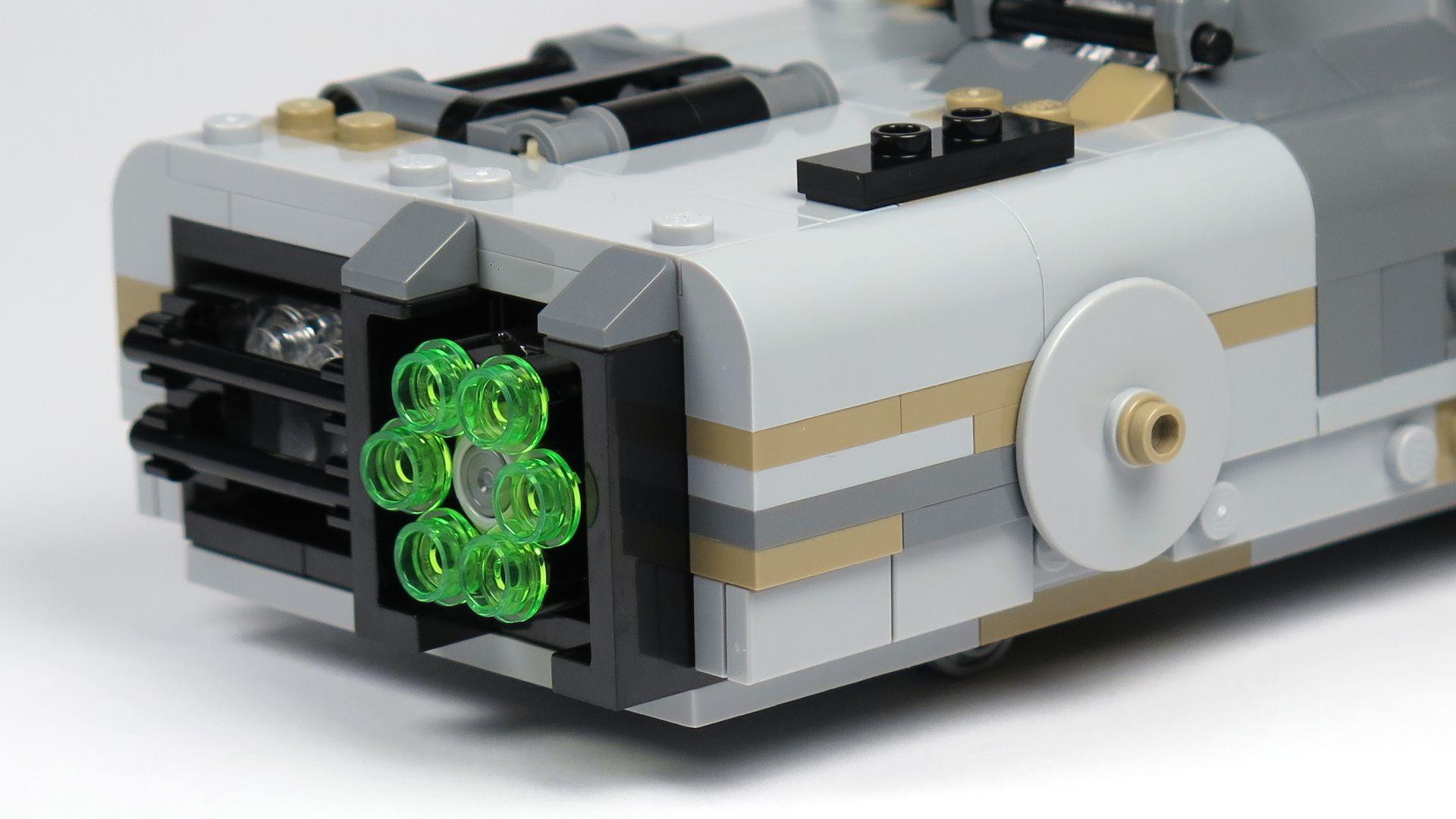 LEGO® Star Wars™ Moloch's Landspeeder™ (75210) - Trommel Shooter | ©2018 Brickzeit
