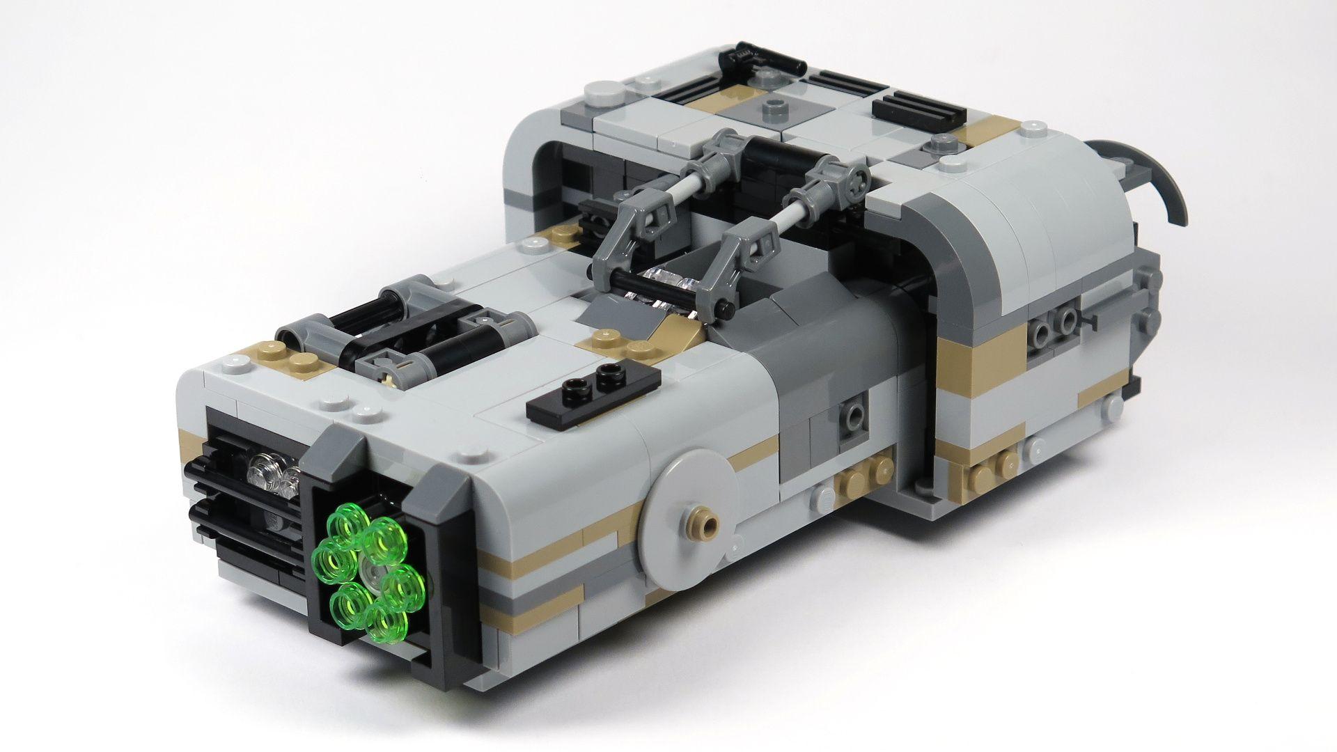 LEGO® Star Wars™ Moloch's Landspeeder™ (75210) - Vorderseite links | ©2018 Brickzeit