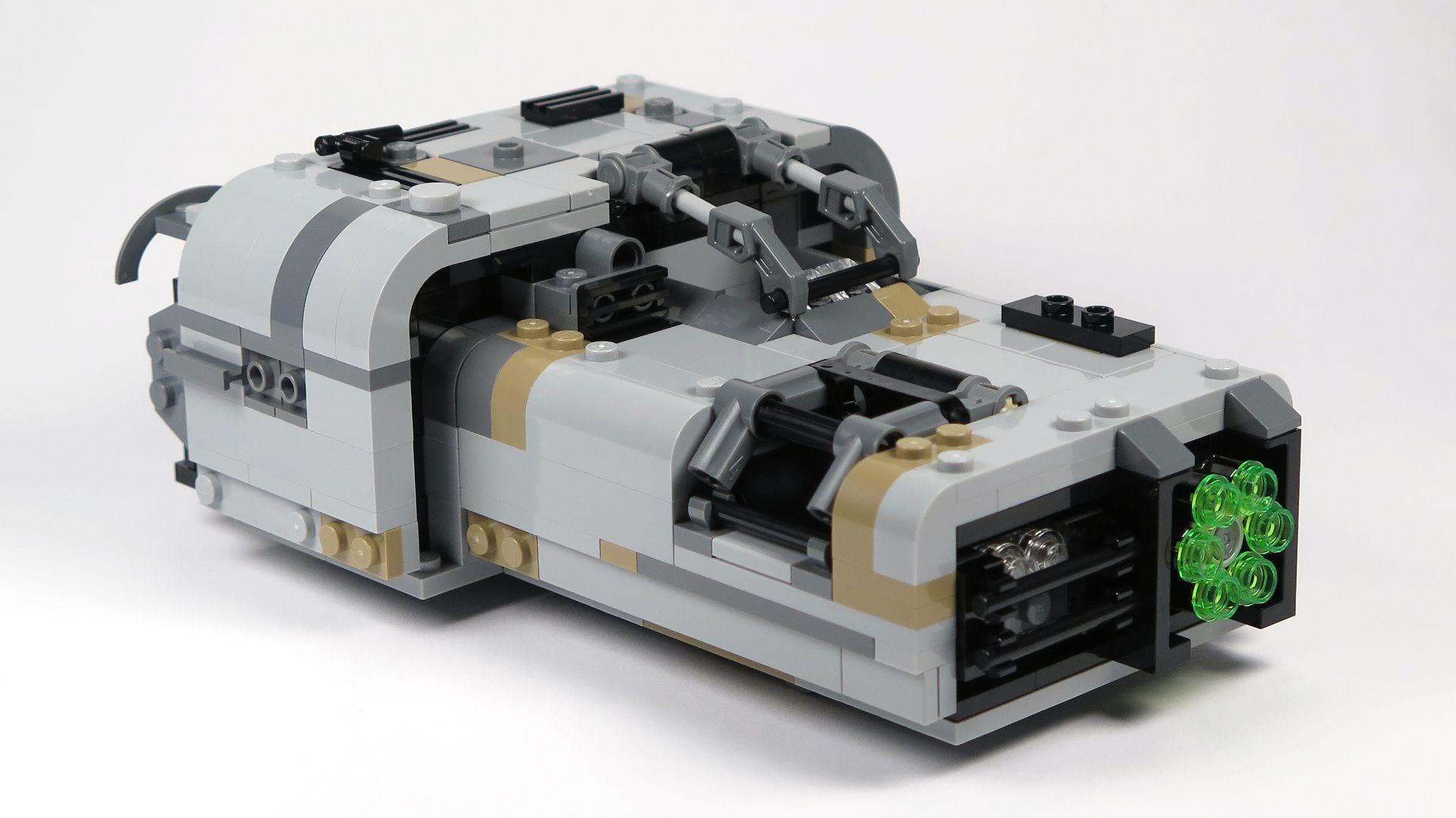 LEGO® Star Wars™ Moloch's Landspeeder™ (75210) - Vorderseite rechts | ©2018 Brickzeit