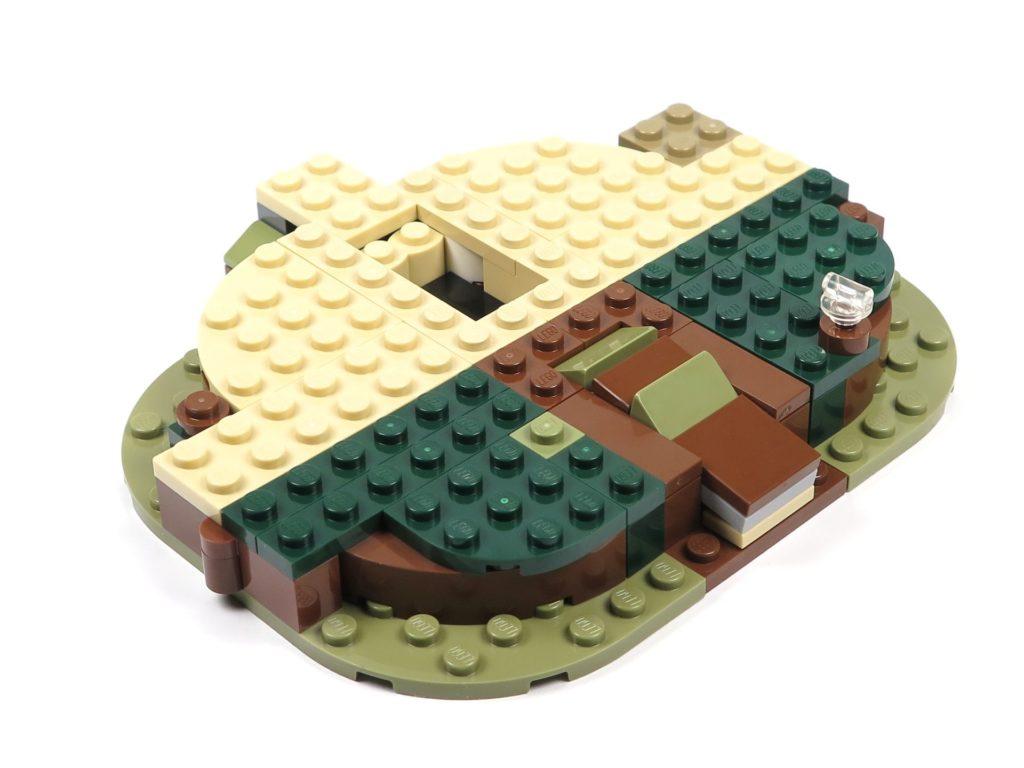 LEGO® Star Wars™ Yoda's Hütte (75208) - Bauabschnitt 1 - Platte Rückseite | ©2018 Brickzeit