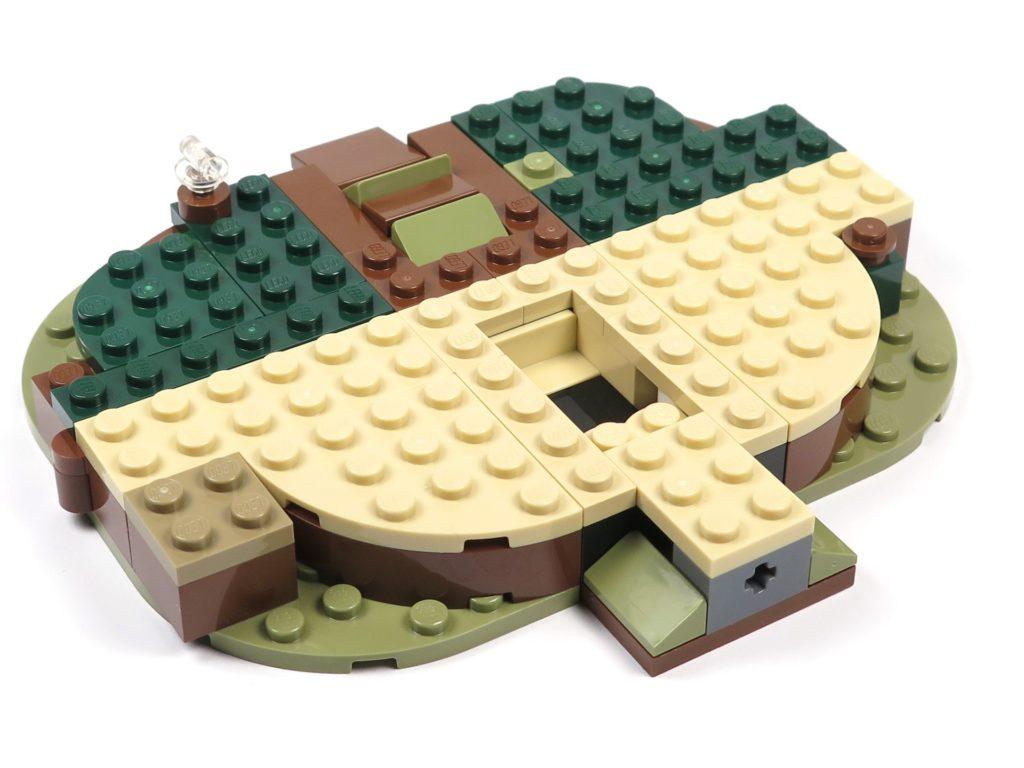 LEGO® Star Wars™ Yoda's Hütte (75208) - Bauabschnitt 1 - Platte Vorderseite | ©2018 Brickzeit