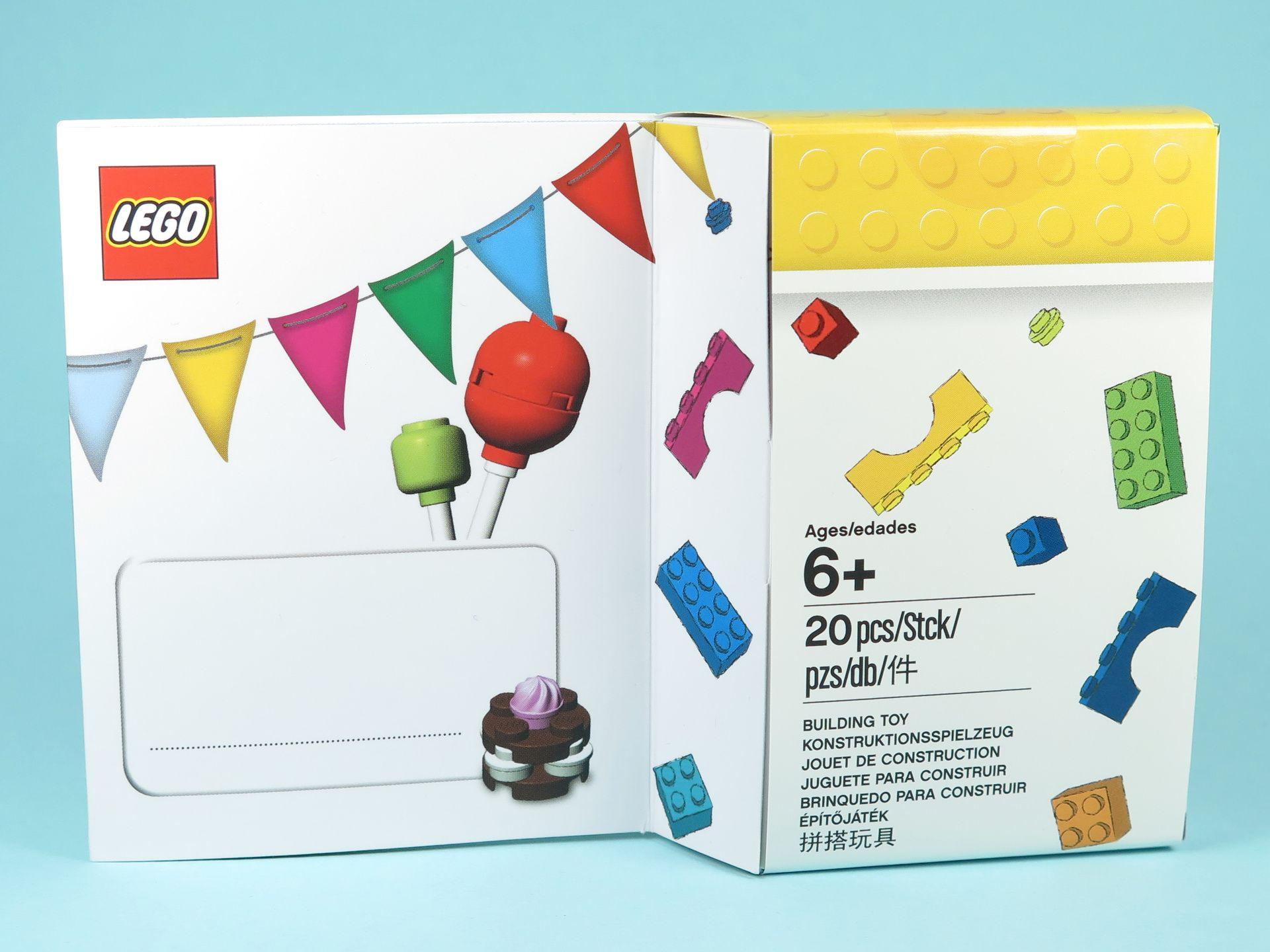 LEGO® Geburtstagskarte (5004931) - Packung | ©2018 Brickzeit