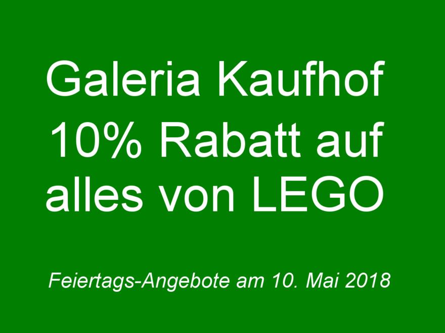 GALERIA Kaufhof Feiertags-Angebote am 10. Mai 2018 | ©2018 Brickzeit