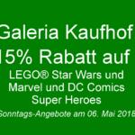 GALERIA Kaufhof Sonntags-Angebote am 06. Mai 2018 | ©2018 Brickzeit