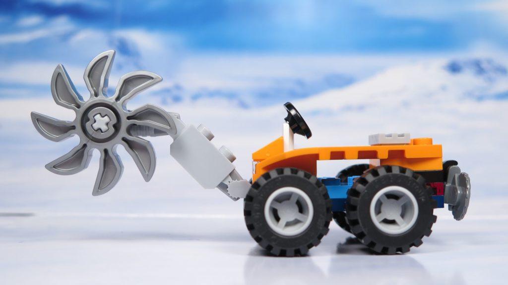 LEGO® City Arktis Eissäge - Fahrzeug, linke Seite | ®2018 Brickzeit