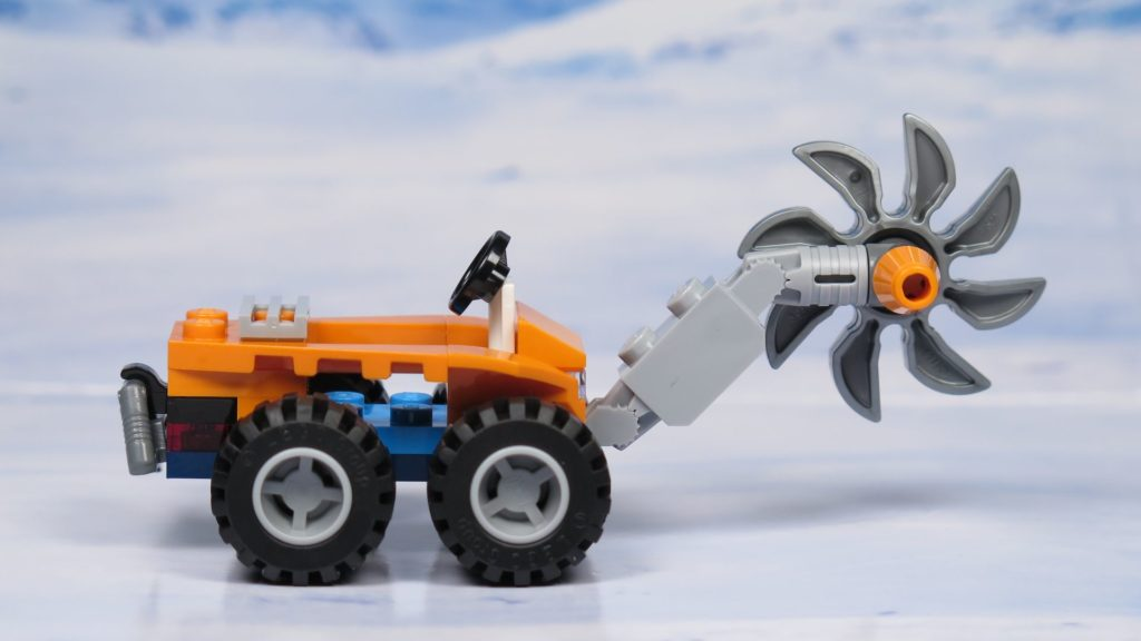 LEGO® City Arktis Eissäge - Fahrzeug, rechte Seite | ®2018 Brickzeit
