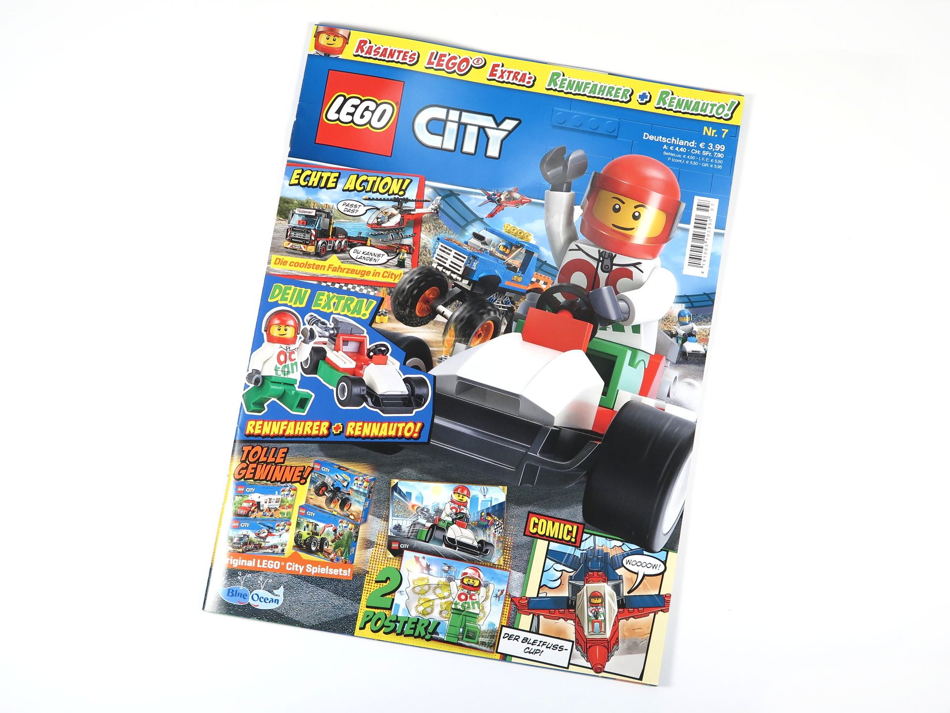 review lego city magazin nr 7 mit rennfahrer und. Black Bedroom Furniture Sets. Home Design Ideas