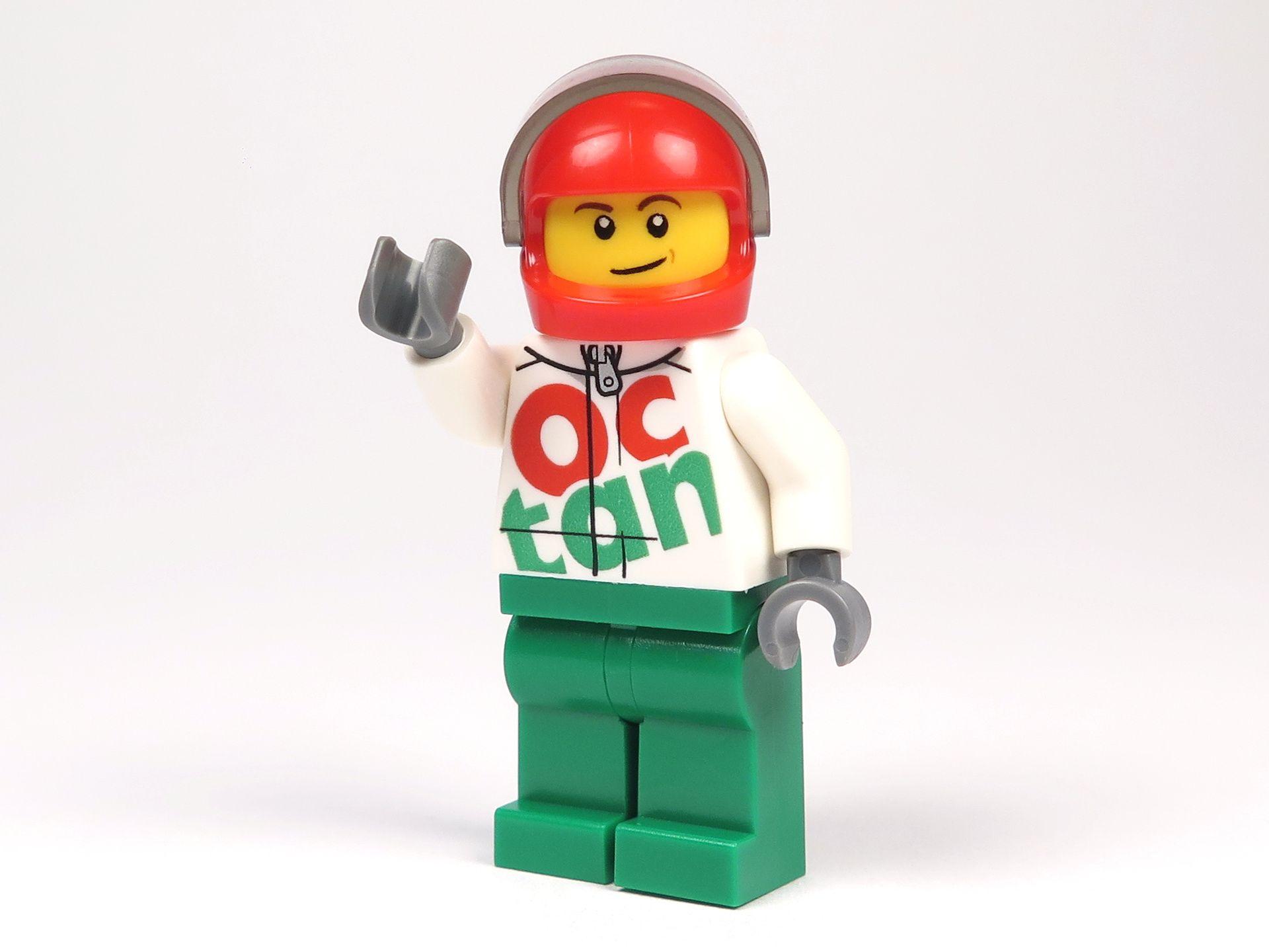 LEGO® City Magazin Nr. 7 - Rennfahrer Minfigur - Vorderseite mit Helm | 2018 Brickzeit