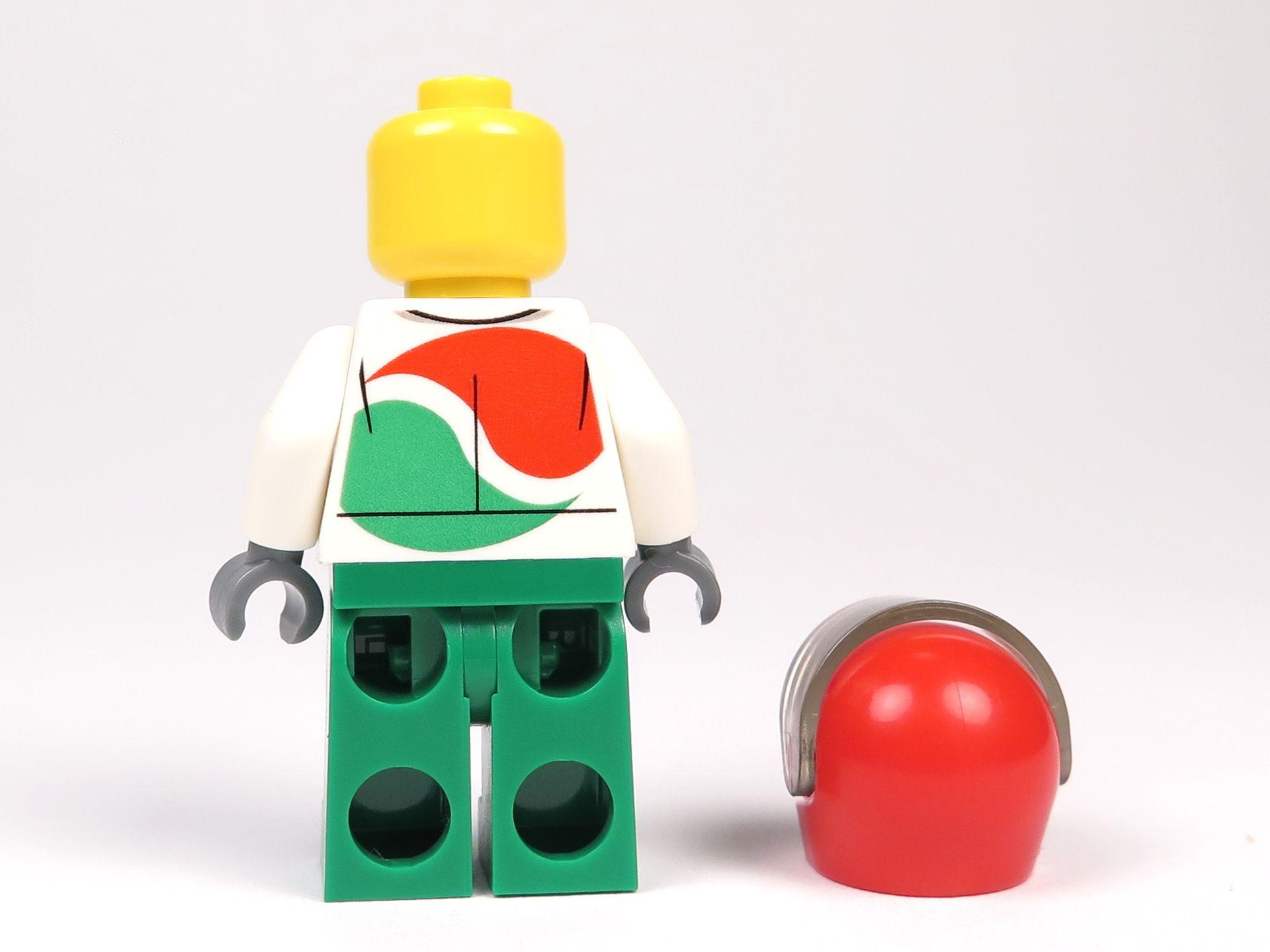LEGO® City Magazin Nr. 7 - Rennfahrer Minfigur - Rückseite ohne Helm | 2018 Brickzeit