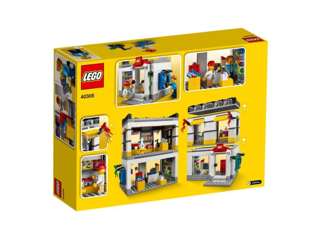 LEGO® Geschäft im Miniformat (40305) - Packung Rückseite | ©2018 LEGO Gruppe