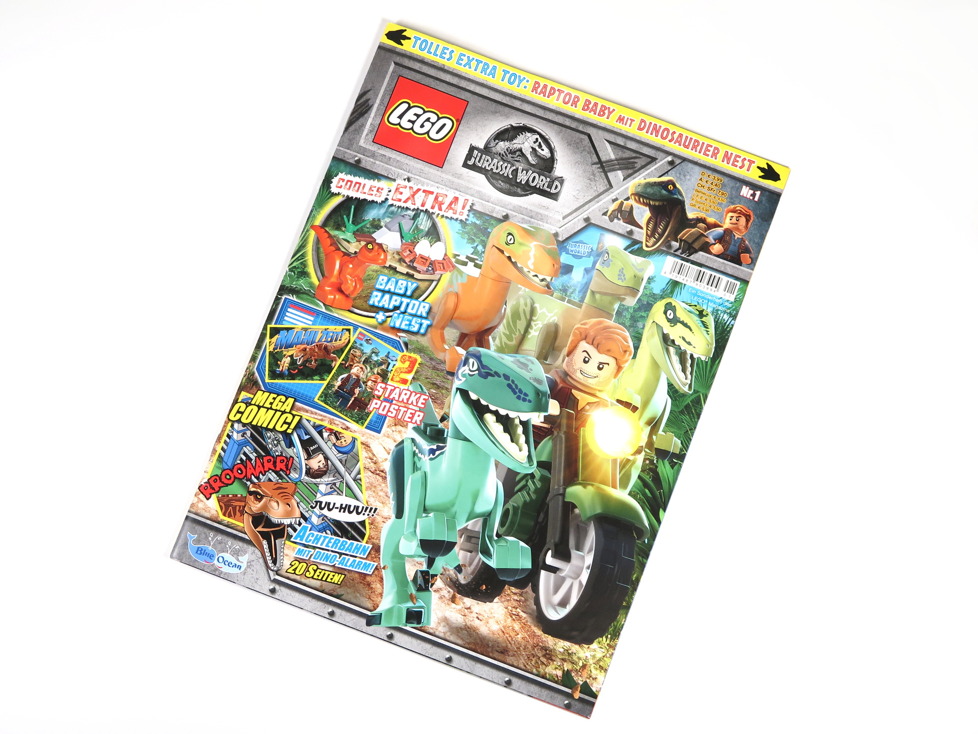 LEGO® Jurassic World™ Magazin Nr. 1 - Cover Magazin ohne Polybag | ©2018 Brickzeit