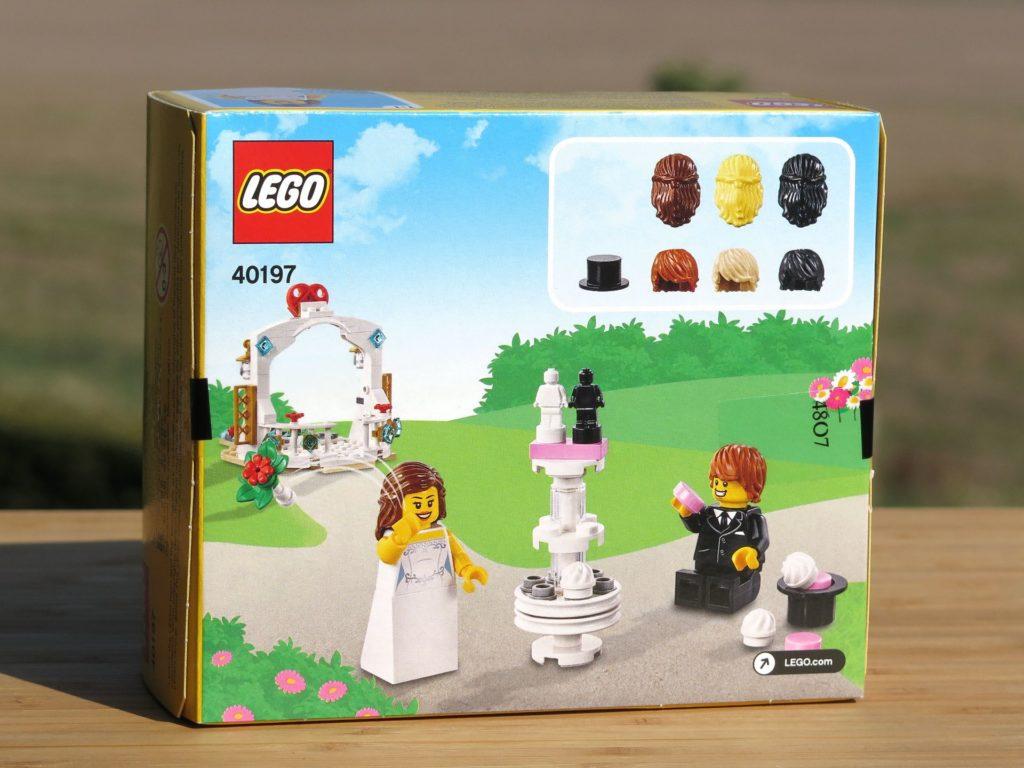 LEGO® Minifiguren Hochzeits-Set 2018 (40197) - Packung Rückseite | ©2018 Brickzeit