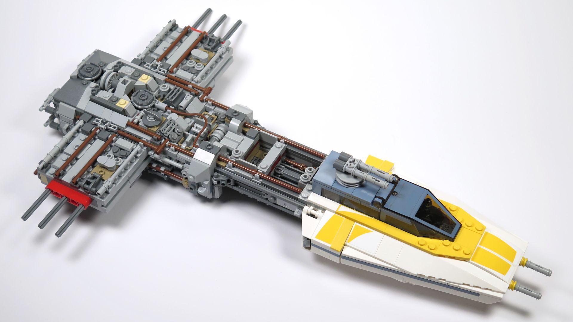 LEGO® Star Wars™ UCS Y-Wing Starfighter - Bauabschnitt 3 - Vorne | ©2018 Brickzeit